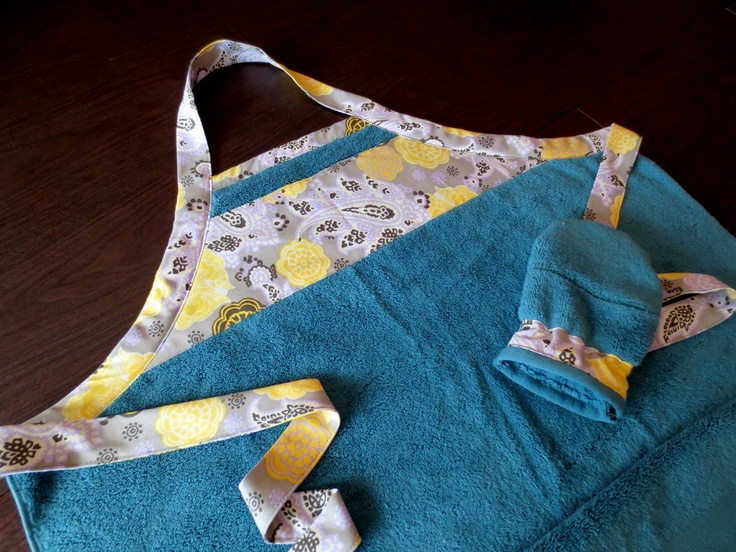 Baby bath apron from a towel!