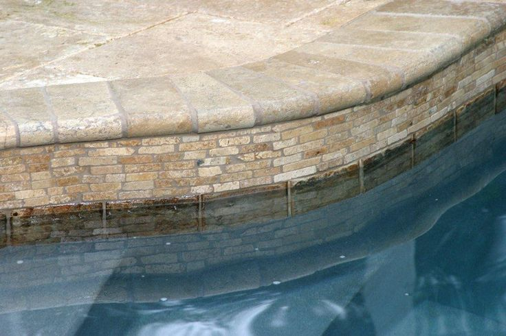 Paver pool deck stacked stone tile for raised hot tub