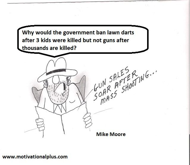 Mike Moore's Laughter Lounge : New Cartoon on Gun Control