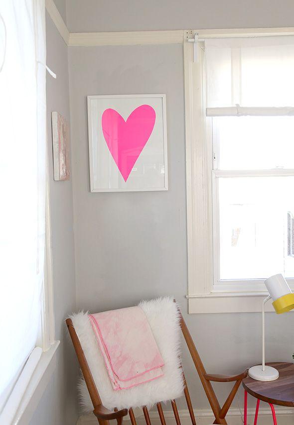 DIY The Easiest Lopsided Heart Artwork
