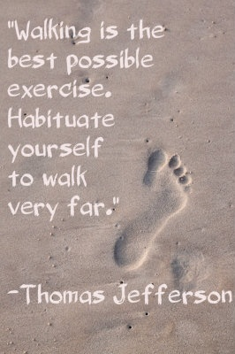 """""""Walking is the best possible exercise. Habituate yourself to walk very far."""" Thomas Jefferson  #quote #healthquote    Image courtesy of Chaiwat at FreeDigitalPhotos.net"""