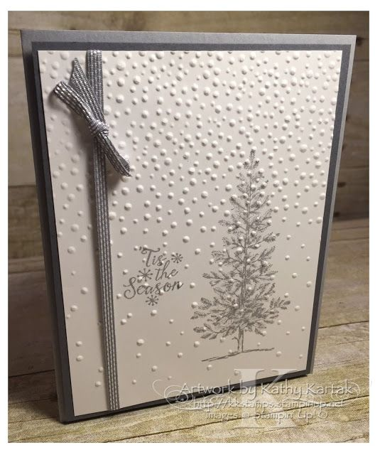 "Faithful INKspirations: Smoky Tree is made with Stampin' Up's ""Lovely as a Tree"" and ""Peaceful Pines"" stamp sets."