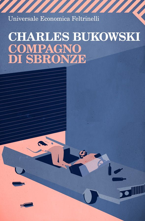 Compagno di sbronze - Charles Bukowski - Feltrinelli - Illustrazione di Emiliano Ponzi
