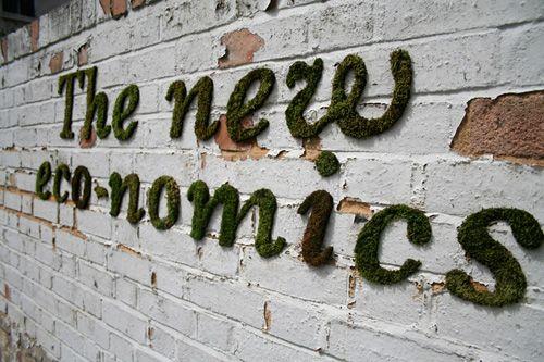 Moss Graffiti by Anna Garforth.