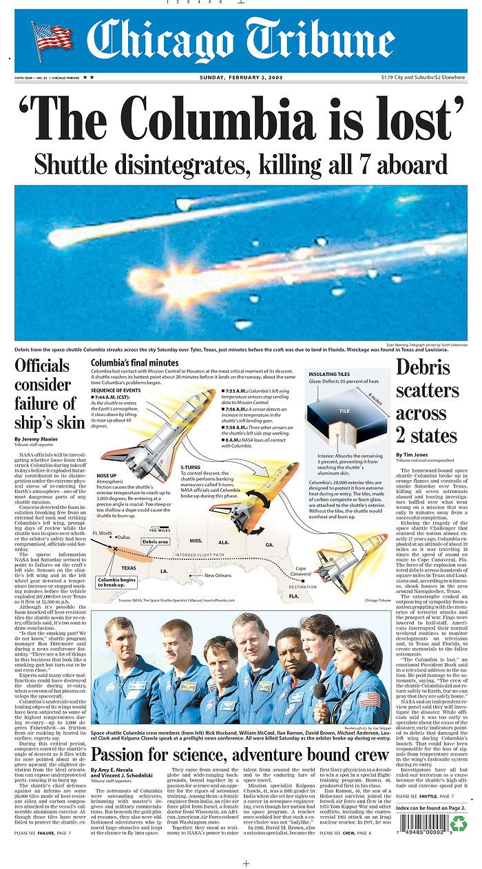 space shuttle columbia news coverage - photo #6