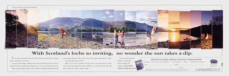 Read more: https://www.luerzersarchive.com/en/magazine/print-detail/scottish-tourist-board-7473.html Scottish Tourist Board Tags: Faulds Advertising Ltd, Edinburgh,Brian Mcgregor,Craig Jackson,Paul Tomkins,Scottish Tourist Board