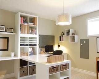Ideas about Pinterest: Two-Person Desk for Home Office - Bing Images More
