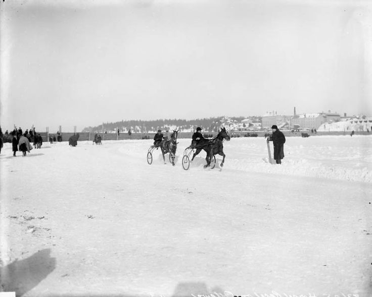 Horse Race on Ottawa River. March 1902. copyright expired (Credit: Topley Studio / Library and Archives Canada / PA-028207)