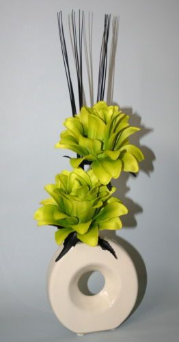 23 best artificial flowers images on pinterest artificial flowers lime green silk dragonflower artificial flower arrangement in vase mightylinksfo Images