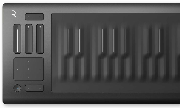 Roli, keyboard, rubber, plastic, black, matte, button