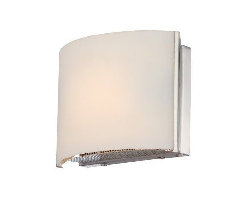 Alico Industries BV6T1-10-16M Pandora Collection 1-Light Vanity Fixture, Matte Satin Nickel Finish with White Opal Glass by Alico. $76.43. Alico Industries BV6T1-10-16M Pandora Collection 1-Light Vanity Sconce is simple elegance at its best with the Matte Satin Nickel finish complementing the arch of a clean White Opal glass shade. Place in a bathroom or down a hallway for some simple elegance. The BV6T1-10-16M is 6.5-Inch wide by 4.875-Inch high by 3.25 inch exte...