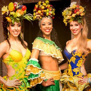 Rio themed meet and Greet performers for hire. Our carnival girls can be hired in London and the UK.