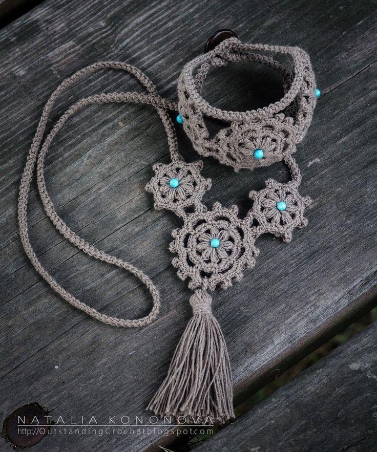 Outstanding Crochet: My new step-by-step crochet jewelry tutorial: Linen Crochet Bracelet.