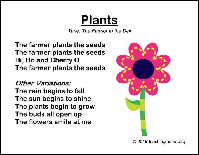 Spring Songs for Preschoolers with Printables