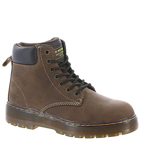 Dr. Martens Men's Winch Extra Wide Steel Toe 7 Eye Boot,Dark Brown Wyoming Leath. For product info go to:  https://www.caraccessoriesonlinemarket.com/dr-martens-mens-winch-extra-wide-steel-toe-7-eye-bootdark-brown-wyoming-leath-2/