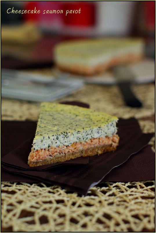 Cheesecake au saumon et graines de pavot