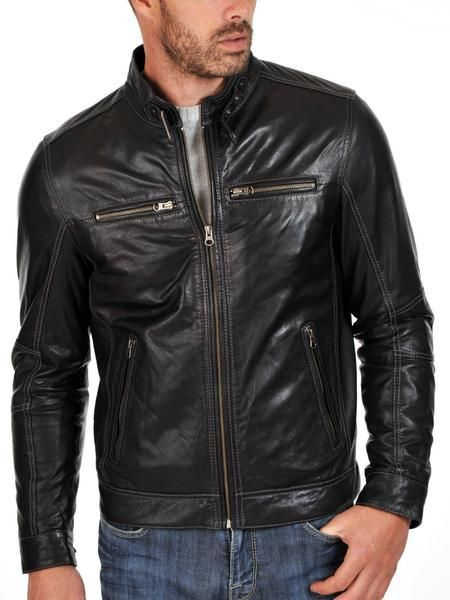 Mens Lambskin Leather Jacket----------https://www.ryanlifestyle.com/collections/men-leather-jacket/products/rlblk578?variant=34885220942--------------Price:119.99