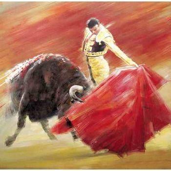 Tableau peints Torero et taureau 5 tableau Tableaux Corrida Arts ...