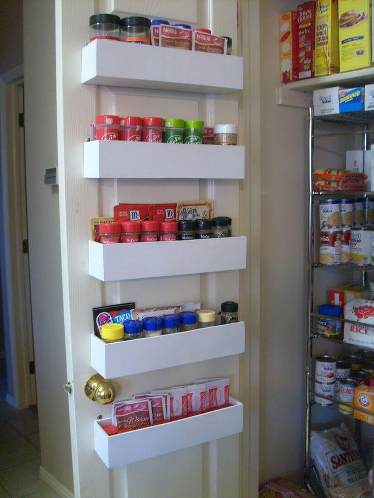 pantry door storage rack | RobbyGurl's Creations: DIY Pantry Door Spice Racks