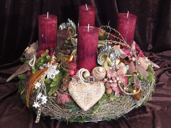 Advent wreath noble modern nature of XXL nature by fleuRomantic