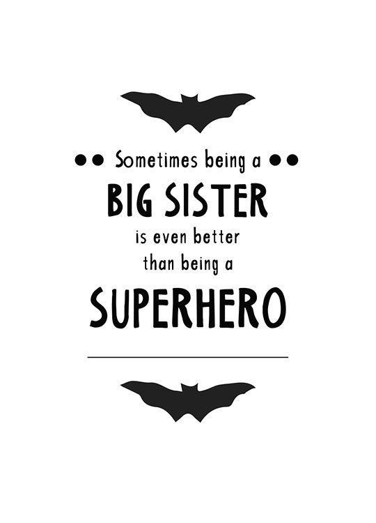 Big sister Poster i gruppen Posters  / Barntavlor hos Desenio AB (8873)