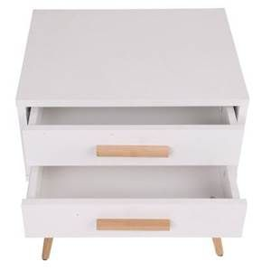 Hyatt Side Table with 2 Drawers - White