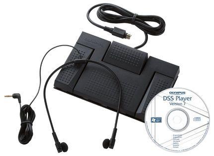 De Olympus AS-2400 Transcriptie Kit biedt de snelste weg van uw gesproken notities naar papier. Deze transcriptiekit bestaat uit een voetschakelaar, een stereohoofdtelefoon en een softwarepakket waarmee u razendsnel uw geluidsopnamen uitwerkt. Uw notulen, interviews en colleges vinden voortaan in een moordend tempo hun weg naar papier.