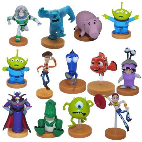 13 Шт. История Игрушек 3 Базз Лайтер Шериф Вуди Джесси Monsters Inc Яйцо ПВХ Фигурку Игрушки Куклы Brinquedos Gife