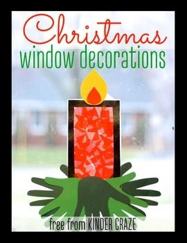 Use this template to create sweet Christmas or Advent candles to decorate your classroom windows. All you need is tissue paper, construction paper and clear contact paper. Copyright  2014 Maria ManoreLike Kinder-Craze on FacebookFollow me on Instagram!