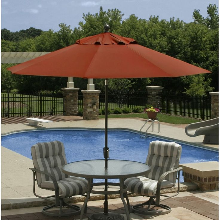 Blue Wave   9 Ft Octagon Autotilt Market Umbrella