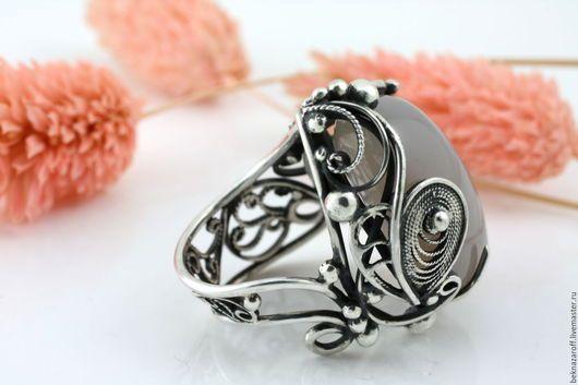 Кольца ручной работы. Заказать кольцо из серебра 925 с опалом. Beknazaroff Самоцветы в серебре. Ярмарка Мастеров. Опал в серебре