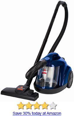 Bissell Zing Bagless Canister Vacuum Review: For a really cheap canister vacuum, this one really gets it done. See the full review for more info.