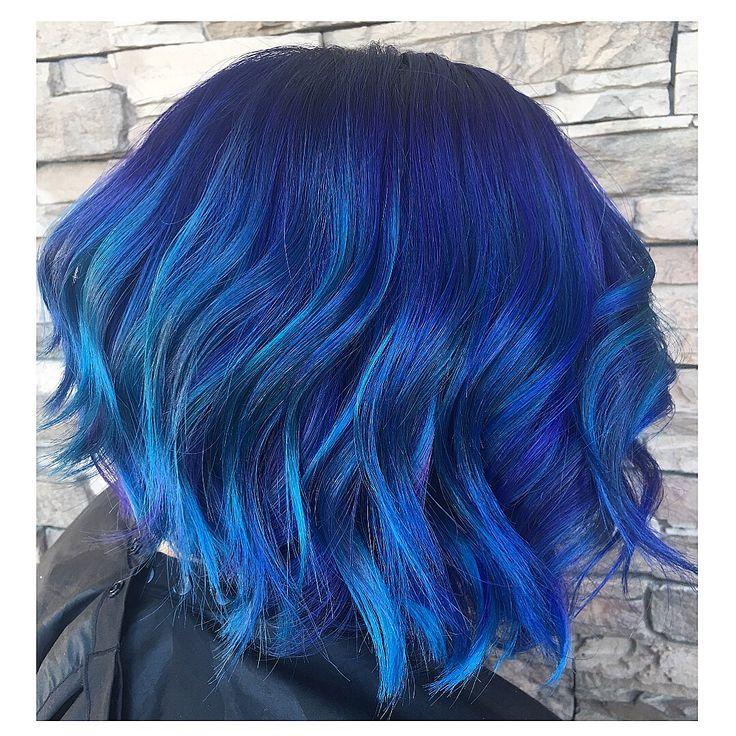 permanent blue hair