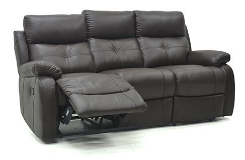 The Trinity 3 Seater High Grade Italian Leather Coach is a sumptuous recliner sofa in deep earthy tones.   The stitching detail and button detail on the seat front give an added luxurious feet to this sofa.   Leather is both comfortable and classy and is ideal for everyday living spaces.   10 Year frame guarantee on this sofa.