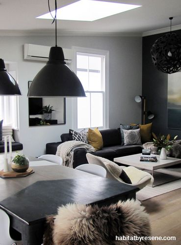 Love what they've done to the table  Habitat by Resene   Loveable living rooms