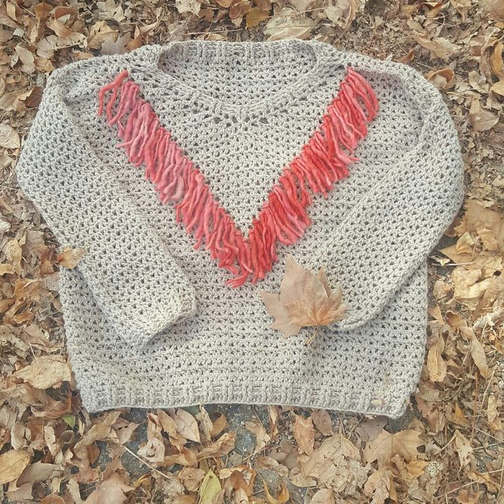 Sweater Rustic Leaf con Flecos