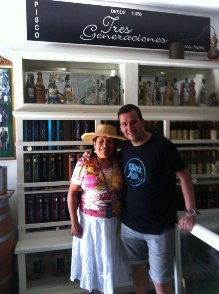 Martin with Dona Juanita de Gonzales' daughter at 3 Generaciones