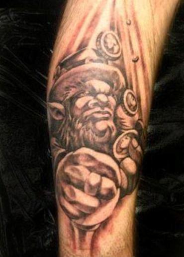 Fine Leprechaun Tattoo