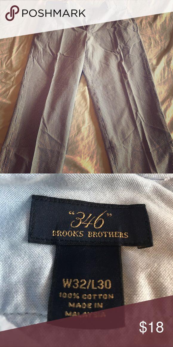 Brooks Brother flat front seersucker pants 32 x 30 Brooks Brothers Seersucker pants Brooks Brothers Pants Chinos & Khakis
