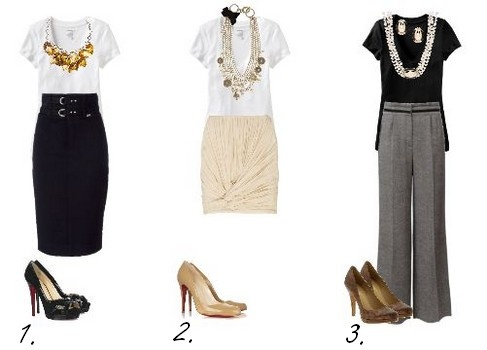 Work outfits: Outfits My Style 3, Statement Necklaces, Simple Tees, Teacher Clothing, Offices Wear, Interview Outfits, Offices Chic, Offices Fashion, Cute Work Outfits