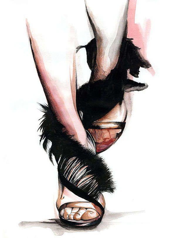 Penciled Fashion Illustrations : Caroline Andrieu
