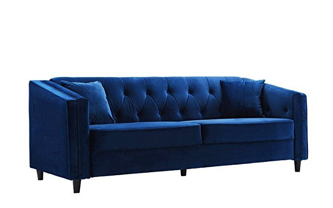 Classic Victorian Style Tufted Velvet Sofa Living Room Couch With