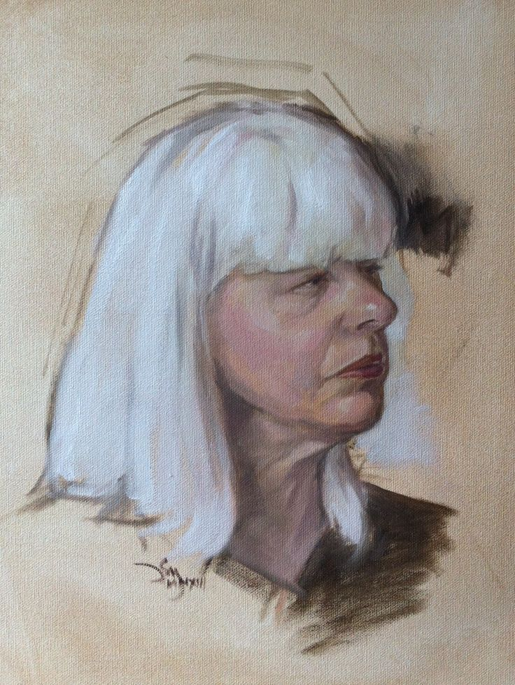 Monique - oil 12x18