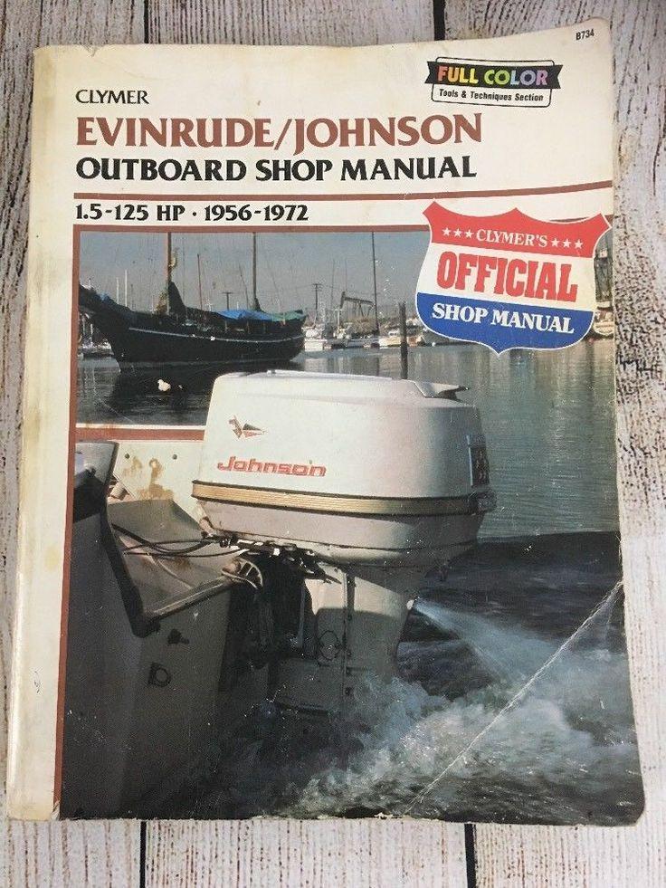 Clymer EvinrudeJohnson 1.5125 hp 19561972 Outboard Shop