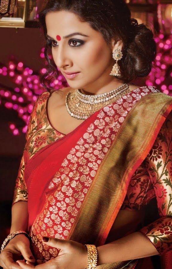 Tollywood Boost: Actress Vidya Balan Saree Stills