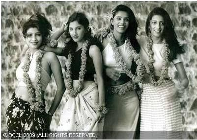A picture of Bharatiya Janata Party (BJP) politician Smriti Irani during her modelling days