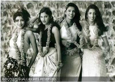 A picture of Bharatiya Janata Party (BJP) politician Smriti Irani during her modelling days