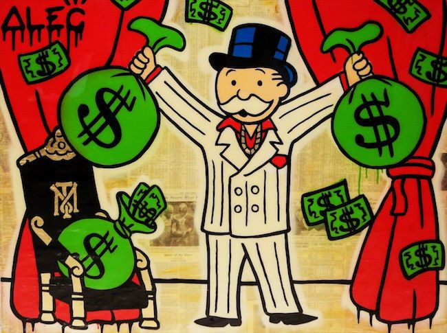 Alec Monopoly Oil Painting On Canvas Graffiti Art Gangstar Money