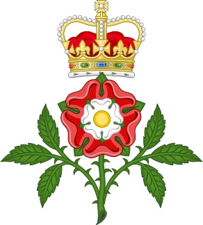 """Tudor Rose Royal Badge of England"", Tudor rose badge, used by every British Monarch since Henry VII. This image is from wikipedia.org"