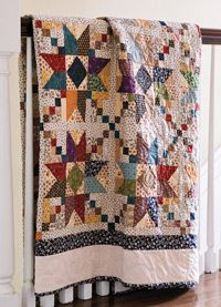 Blackford's Beauty: Fat Quarter Friendly Scrap Quilt  Designed and Quilted by Nancy McNally